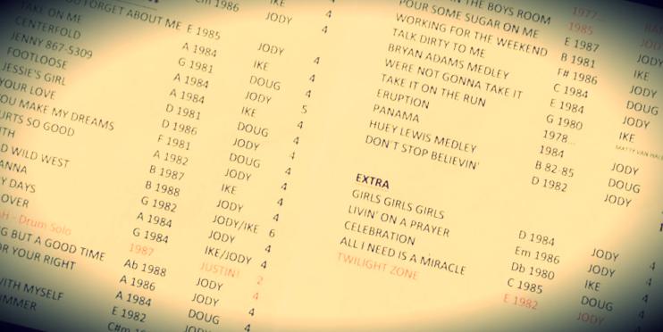 Song List – Mixtape